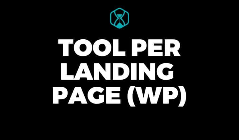 Tool per creare Landing Page WordPress